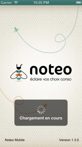 notéo application iphone