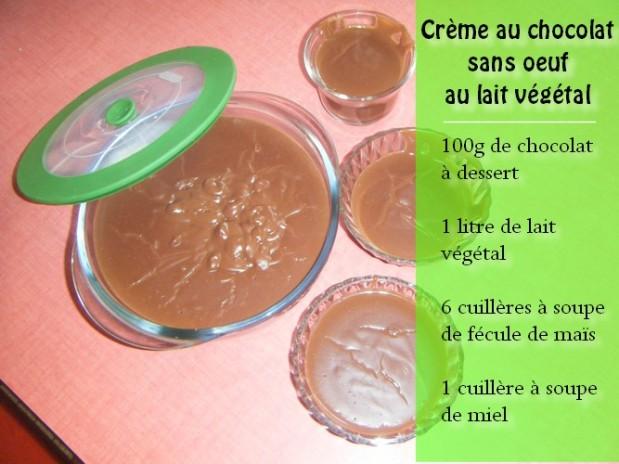 Crème au chocolat sans oeuf