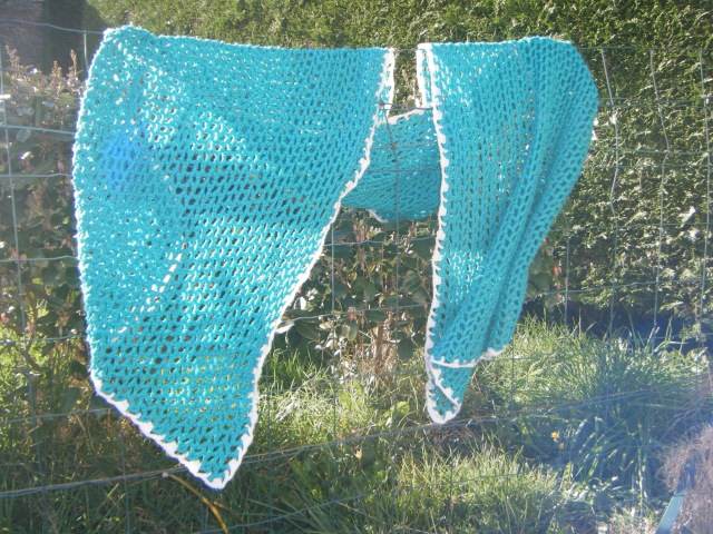 Echarpe vert crochet