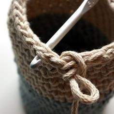 Panier trapilo crochet