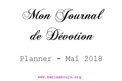 Une MJD Planner Mai 2018